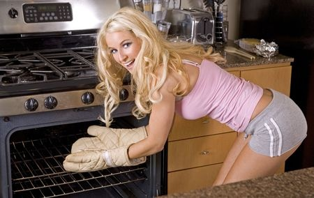 Sexy woman cooking 3