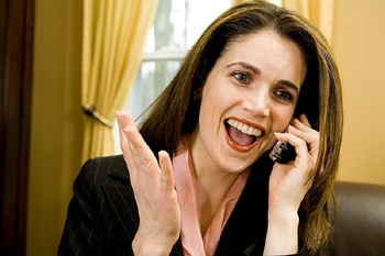 happy woman on phone Meeting Women Online: From Naughty Box To Naughty Girl, Step Two