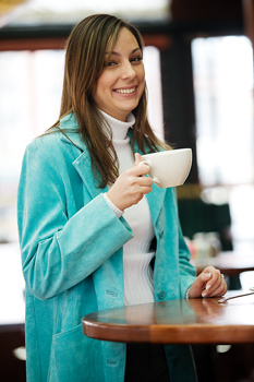 coed-woman-with-cup-of-coffee