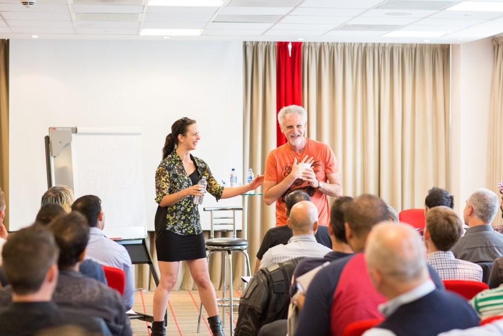 Hayley Quinn and me teaching the July 2014 London Seminar!